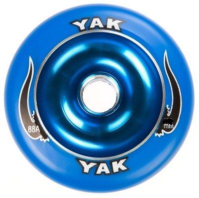 YAK Scat II Metal Core Wheel Blue 100mm