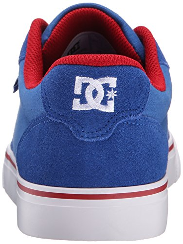 DC Men's Anvil Skate Shoe, Blue/Red/White, 11 M US