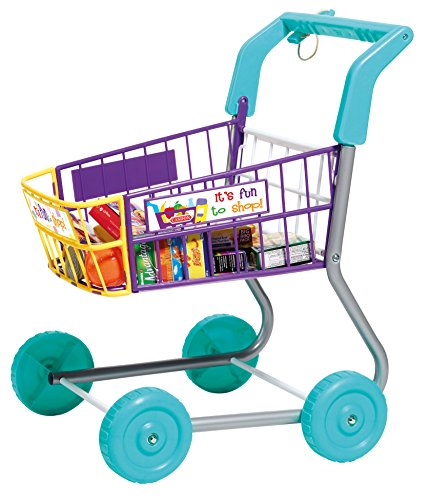 Toy-Grocery-Shopping-Cart-Trolley-Includes-Play-Food