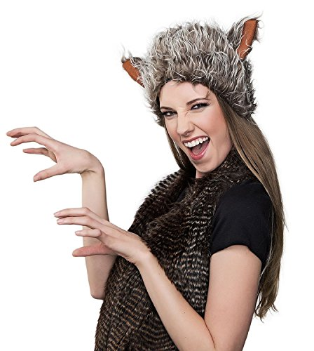 Furry Wolf Hat - One Size
