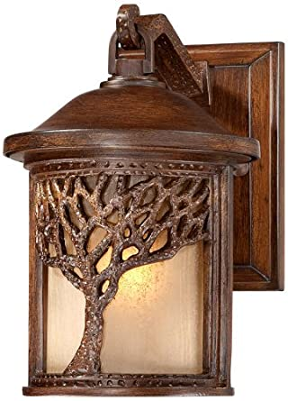 Bronze Mission Style Tree 9 1 2 High Outdoor Wall Light Wall Porch Lights