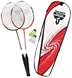 Talbot Torro 2-Combat Premium 449514 Badminton Set with 2 Racquets and 2 Shuttlecocks in Thermal Bag - Red / White