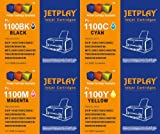 Set of 4 JETPLAY Compatible LC980/LC1100 Brother Compatible Printer Ink Cartridges - Black / Cyan / Magenta / Yellow for Brother DCP-145C DCP-163C DCP-165C DCP-167C DCP-195C DCP-197C DCP-365CN DCP-373CW DCP-375CW DCP-377CW / MFC-250C MFC-255CW MFC-290C M