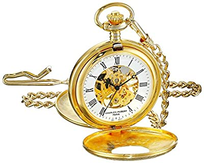Charles-Hubert Pocket Watch 3536 Gold Plated Double Hunter
