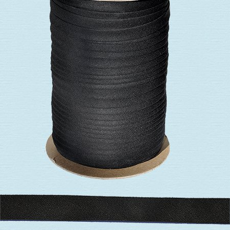 Fantastic Deal! Bias Tape ~ 1/2 Wide Double-fold Bias Tape ~ Black ~ Poly Cotton (10 Yards / Pack)