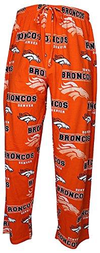 Denver Broncos Mens Orange NFL Fusion Pajama Pants by