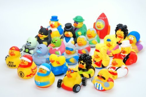 24 Rubber Duckies Crazy Life Theme Assortment