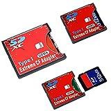 Extreme Single SD MMC SDHC SDXC Slot To CF Type I Compact Flash Memory CF Card Adapter (Tamaño: Small)