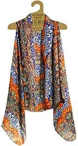 Amazon.com: Accents by Lavello Sheer Designer Vest, Cobalt/Orange