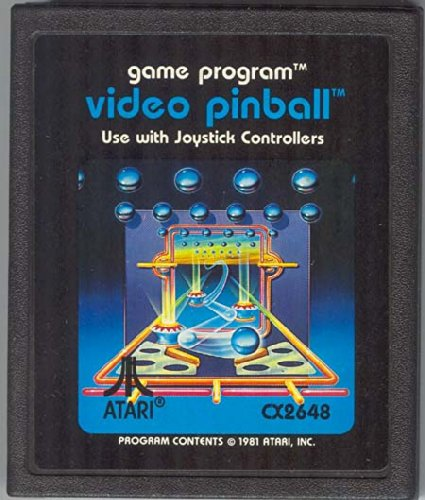 Video Pinball Atari 2600 Video Game Cartridge - 1