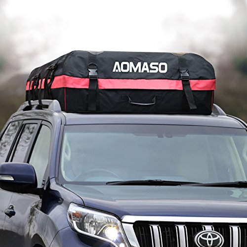 Aomaso Car Top Carrier Waterproof Roof Top Cargo Rack 10 Cubic Feet Storage Box Roof Top Bag for Travel and Luggage Transportation (Roof Rack Waterproof Bag compare prices)