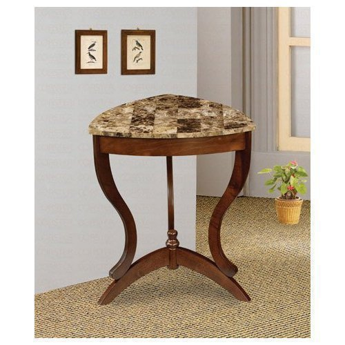 Cheap Coaster Accent End Table with Faux Marble Top (B004SY03CO)