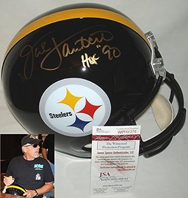 Jack Lambert HOF 90 Signed / Autographed Pittsburgh Steelers Full Size Replica Football Helmet - JSA