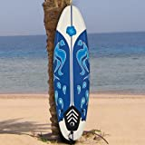 Best Choice Products Surfing Surf Beach Ocean Body Foamie Board Surfboard, White, 6'