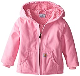 Carhartt Baby Girls\' Redwood Jacket Sherpa Lined, Pink, 24 Months