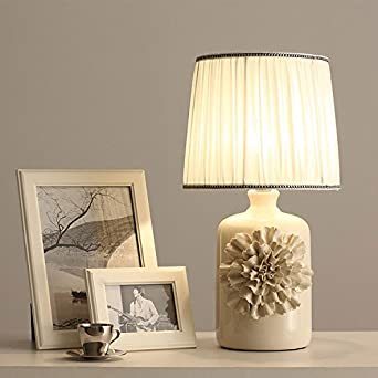 CRF Fashion Personality Glass Shade Bedside Lamp Living Room Decorative B