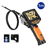 Potensic® Digital Endoscope Borescope with Waterproof CMOS Camera and 3.5 inch Built-in Color LCD Screen - 3 ft/1m Cable, 0.32 inch Camera Diameter, 4 Zoom Options