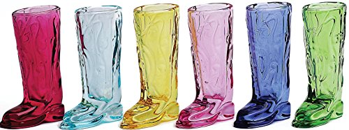 Fun Multi Color Cowboy Boot Shot Glasses Set