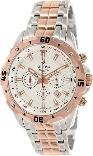 Bulova Men'S 98B196 Analog Display Analog Quartz Black Watch