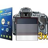 Nikon D-SLR D5300 D5500 Digital Camera Premium Clear LCD Screen Protector Cover Guard Shield Film Kits, Exact fit, NO CUTTING (3 pieces, GUARMOR Brand)