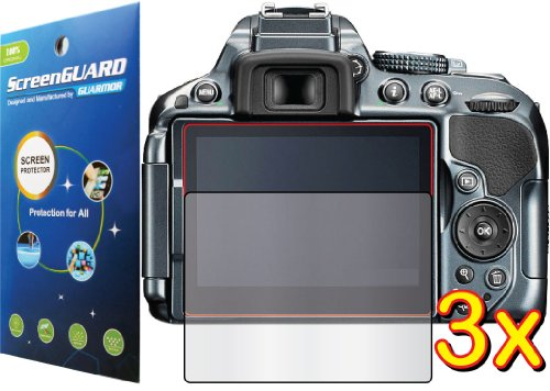 Nikon D-Slr D5300 Digital Camera Premium Clear Lcd Screen Protector Cover Guard Shield Film Kits, Exact Fit, No Cutting (3 Pieces, Guarmor Brand)