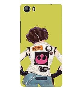 EPICCASE Trendy Girl Mobile Back Case Cover For Micromax Canvas 5 E481 (Designer Case)