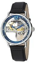Hot Sale Stuhrling Original Men's 465.33156 Symphony Aristocrat Bridge Automatic Skeleton Blue Dial Watch