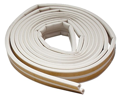 M-D Building Products 2576 All-Climate Edam Weatherstrip, P Strip, 17 Feet, White (Round Rubber Weatherstrip compare prices)