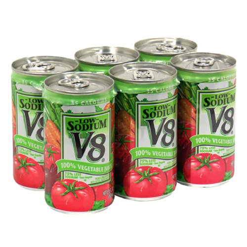 Cheap Canned Vegetables V8 Vegetable Juice Low Sodium 5 5 Ounce