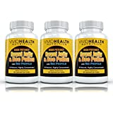 Vivid Health Nutrition High Potency Royal Jelly(500mg) & Bee Pollen(1200mg) with Bee Propolis(400mg). 100% All-Natural, Vegetarian Formula - 3 Bottles / 90 capsules each