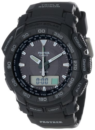 Casio Men'S Prg550-1A1Cr Pro Trek Triple Sensor Tough Solar Analog-Digital Watch