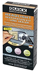 Quixx 00084-us Headlight Restoration Kit + Lens Sealer by Quixx