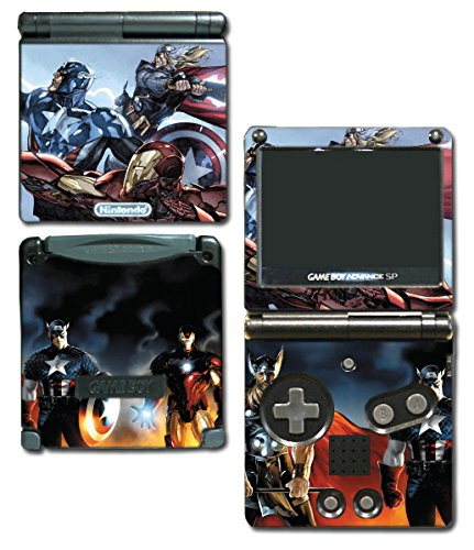 Avengers 2 Movie Iron Man Thor Captain America Hulk 3 Age of Ultron Thanos Video Game Vinyl Decal Skin Sticker Cover for Nintendo GBA SP Gameboy Advance System (Gameboy Advance Captain America compare prices)