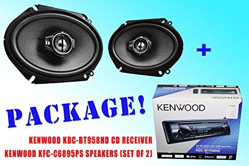 Package ! Kenwood Kdc-Bt958Hd Cd-Receiver + Kenwood Kfc-C6895Ps Car Speakers