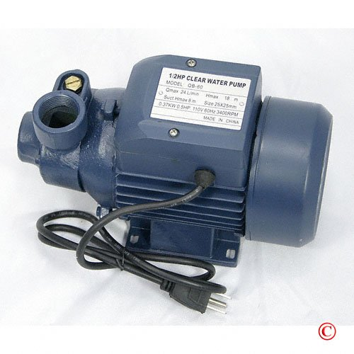 1/2 HP Electric Centrifugal Water Pump Garden Pond Tool1/2 HP Electric Centrifugal Water Pump Garden Pond Tool