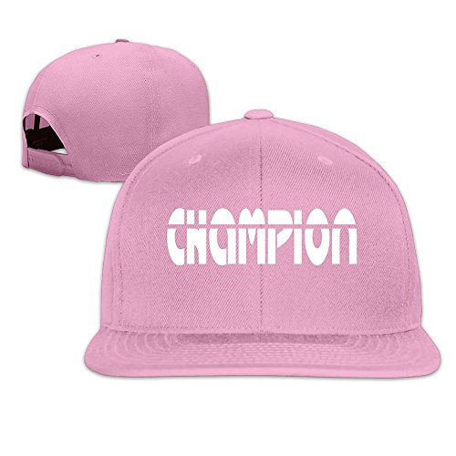 Custom Unisex-Adult Champion Flat Billed Baseball Cap Hat Pink (Sport Champions 2 Ps3 compare prices)