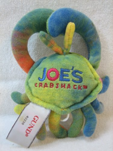 "Gund Vibrating Crab 6"" Plush with ""Joe's Crab Shack"" on Back - 1"