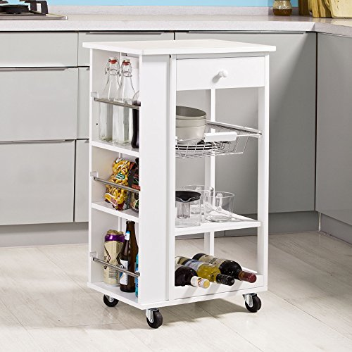Sobuy carrellino salvaspazio scaffale da cucina carrello - Chariot de cuisine en bois ...