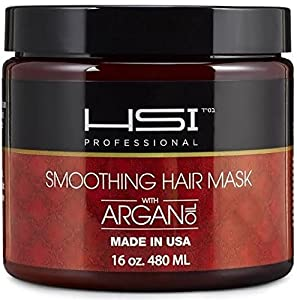 HSI Professional Hydrating Smoothing Anti-Frizz Hair Mask for all Hair Types, 8 Ounce