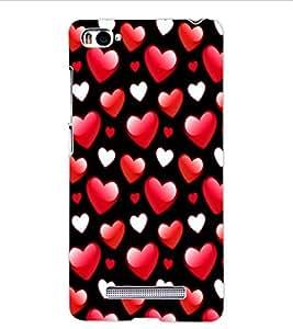 ColourCraft Love Hearts Design Back Case Cover for XIAOMI MI 4I