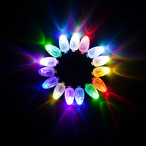 HKBAYI 50 pcs/lot 50 x Led ball lamp balloon light for Paper Lantern Balloon light party wedding decor balloon light long standby time 3 battery for Wedding party Decoration RGB /multi color