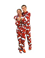 PajamaCity Fleece Footie Pajamas Adults