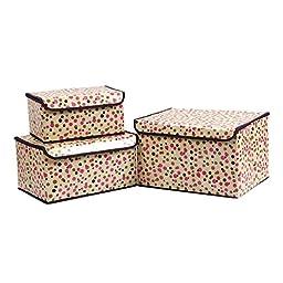 Generic Spots Design 3-Pieces Ourdoor Storage Box Color Yellow