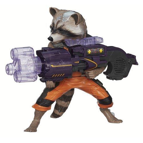 Marvel Guardians of The Galaxy Big Blastin' Rocket Raccoon Figure, 10 Inch by Marvel
