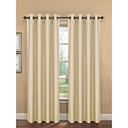 Window Elements Kim Faux Silk Extra Wide 108 x 96 in. Grommet Curtain Panel Pair, Ivory