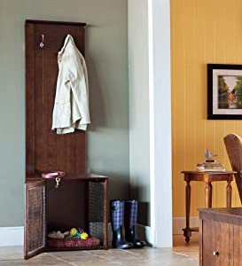 Modular Mudroom Side Unit With Dog Crate Home