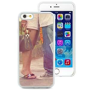 6 Phone cases, Couple Hug Umbrella Love White iPhone 6 4.7 inch TPU cell phone case