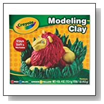 Wholesale CASE of 25 - Crayola Non-Drying Modeling Clay-Modeling Clay, Nondrying,4 oz. Pieces,4 Ct,Assorted Colors