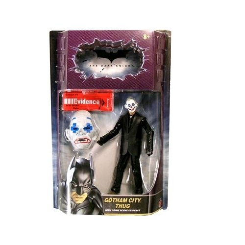 The Dark Knight Movie Masters Series 1 Gotham City Thug (Version 4 With Joker Robbery Mask) Action Figure