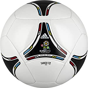 adidas 2012 Glider Mini Soccer Ball (White, Black, Size 1)